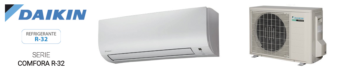 Aire acondicionado SPLIT de Daikin - Serie Comfora R32